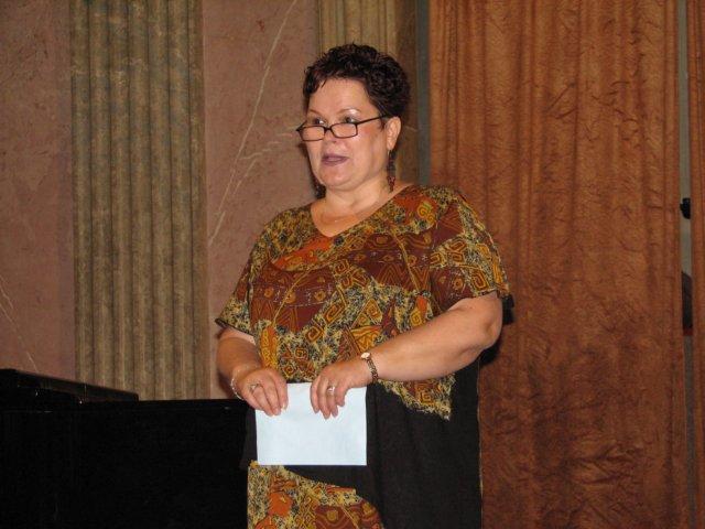 Zlata Houšková moderuje slavnostní vyhlášení Ceny českých knihovníků 2007