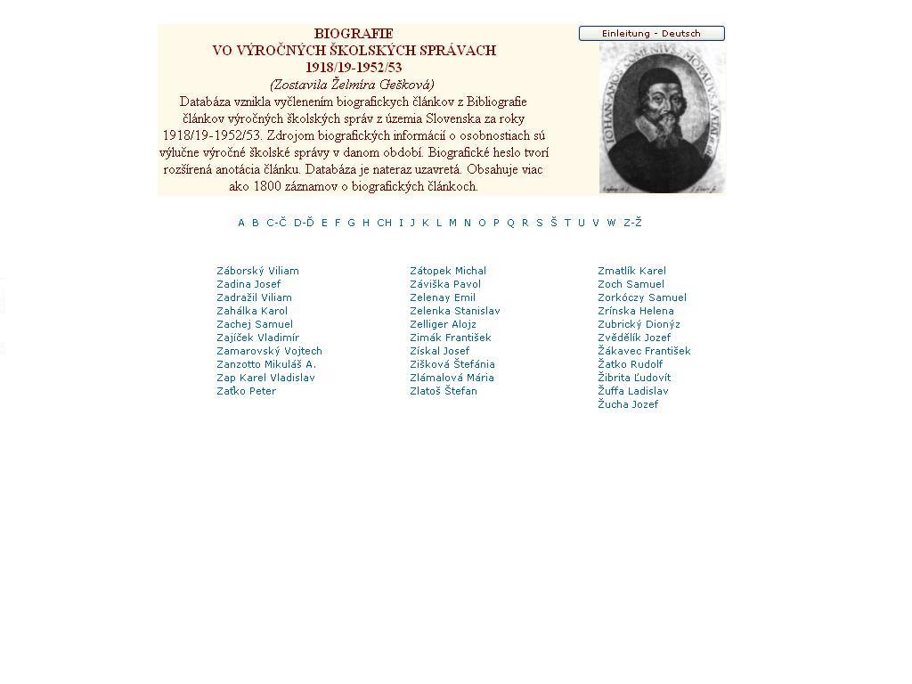 Obr. 5: Prezeranie záznamov v databáze Biografie