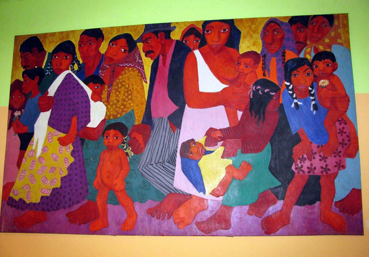 Obraz ve vstupním atriu muzea (autor Zuzana Rousková)