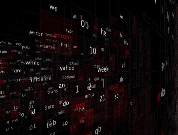 Projekt Emrun, vizualizace souboru e-mailových zpráv zaměstnanců společnosti Enron, zveřejněných v rámci vyšetřování účetních podvodů