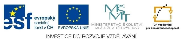 Loga ESF, Evropské unie, MŠMT a OP vzdělání pro konkurenceschopnost