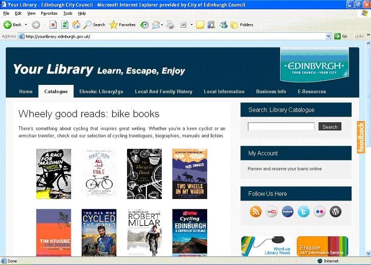 Fig. 1 – A single interface of Edinburgh's Virtual Library