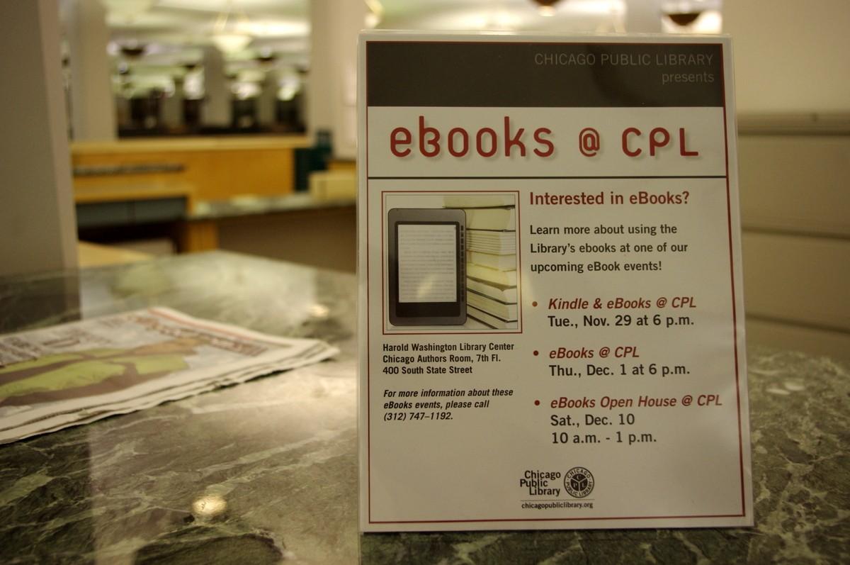V knihovně Harolda Washingtona nechybí ani semináře věnované čtečkám elektronických knih