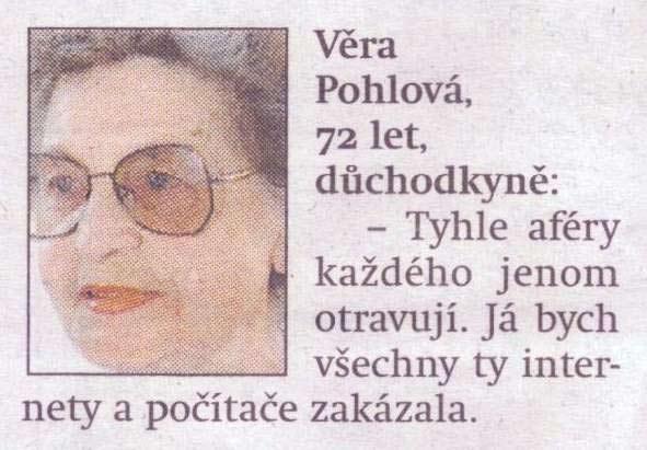 Věra Pohlová a její legendární citát