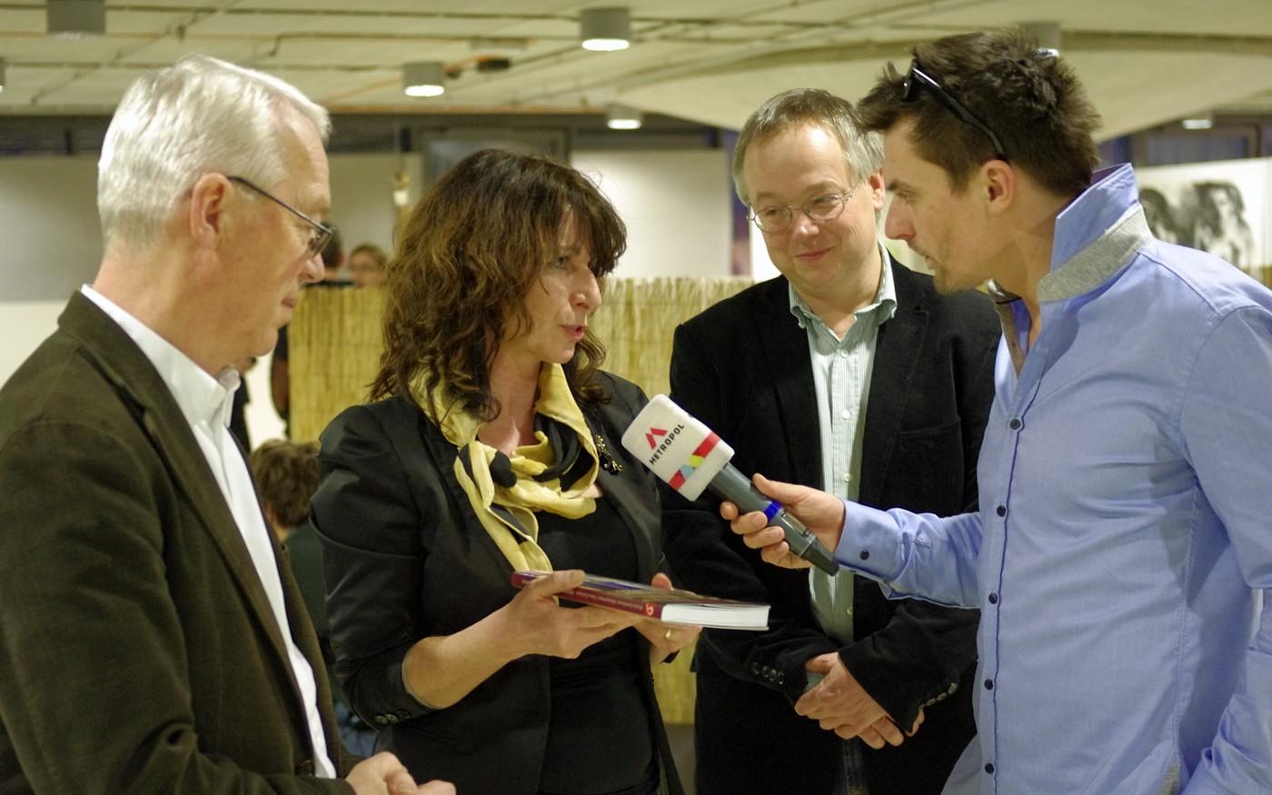 O uvedení knihy měla zájem i pražská televize Metropol