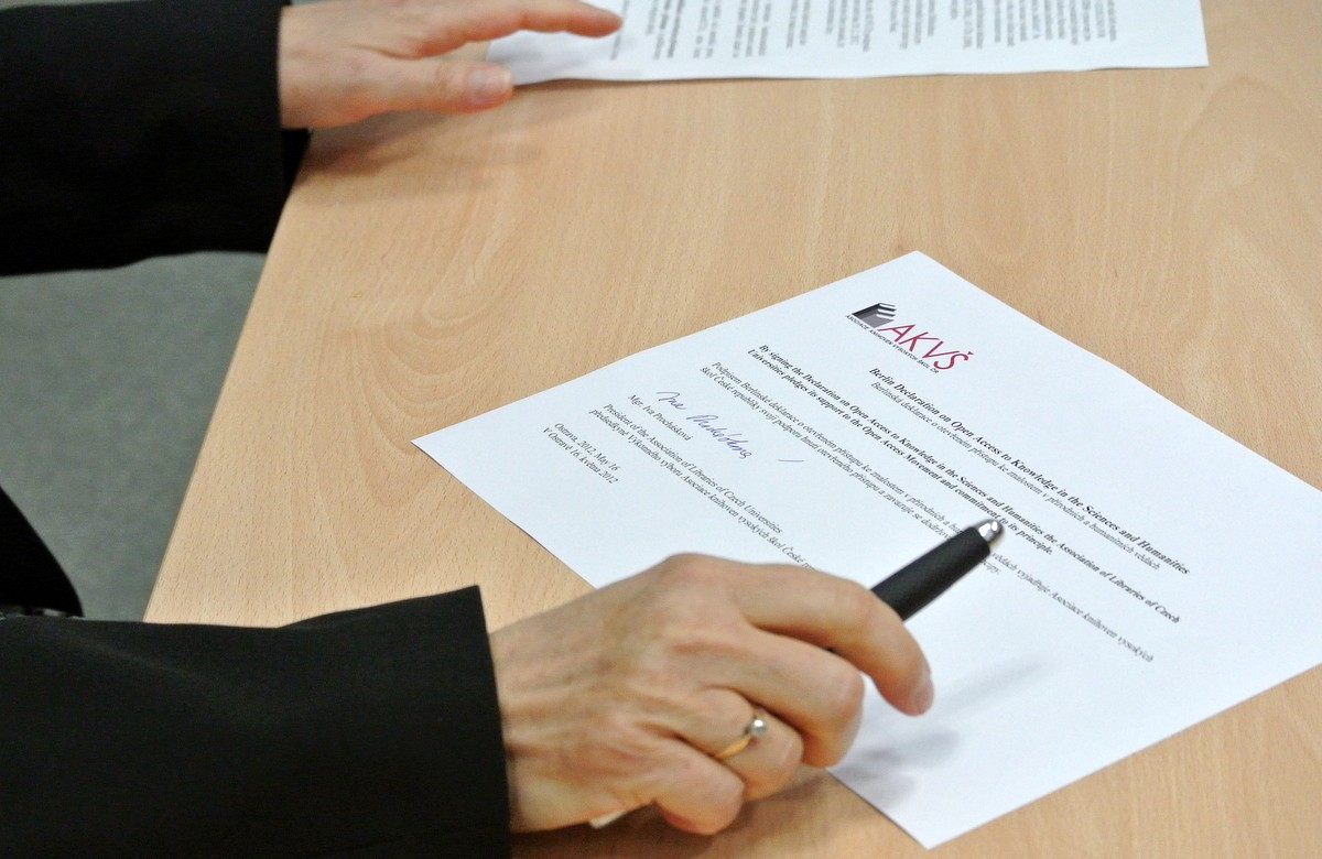 Podpis deklarace