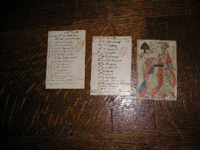 Obr. 2 Vězeňská karta Ludvíka XVI.