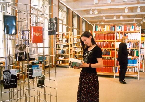 Pohled do Knihovny Goethe-Institutu Prag