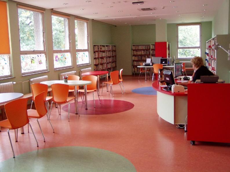 Pohled do interiéru Regionální knihovny v Karviné - Novém Městě