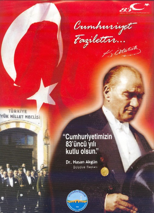 Jeden z Atatürkových plakátů, kterým v Istanbulu není možné se vyhnout