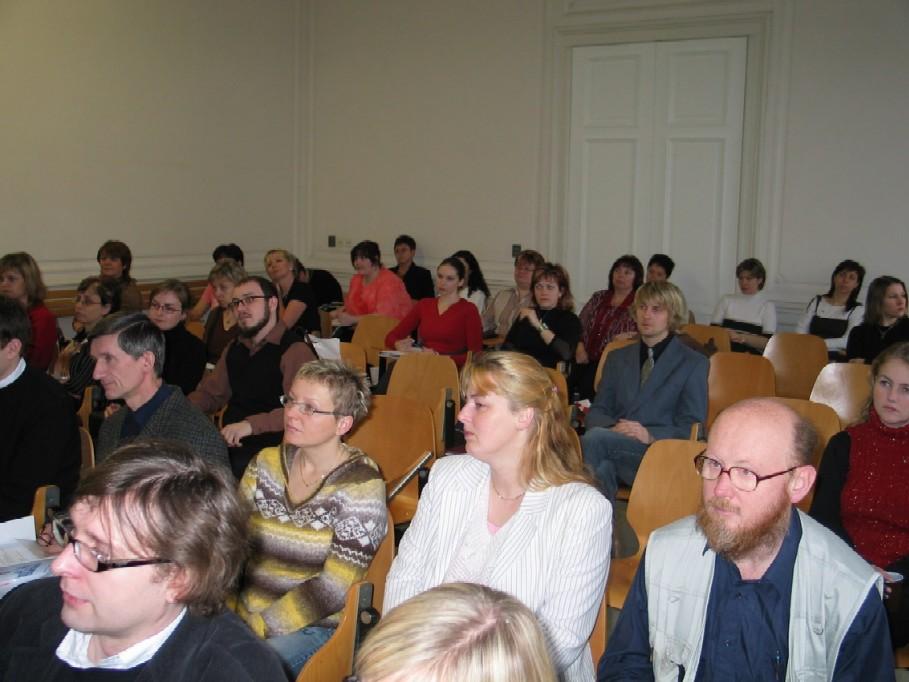 Pohled do publika - účastnici konference
