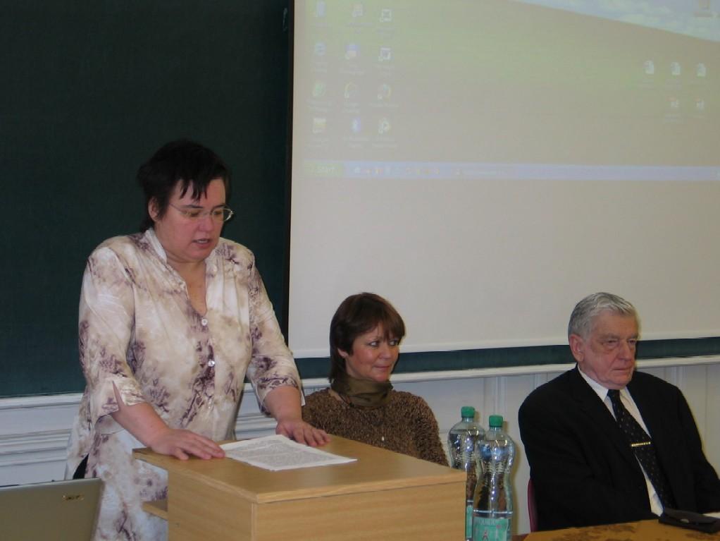 Mgr. Zuzana Bornová; Mgr. Jana Galášová; doc. PhDr. Jiří Urbanec, CSc.