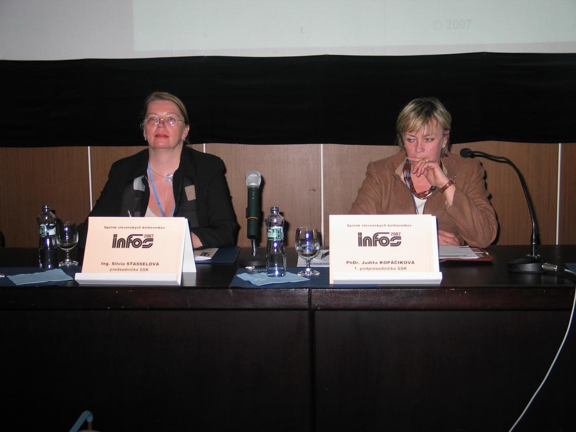 Ing. Silvia Stasselová, PhDr. Judita Kopáčková