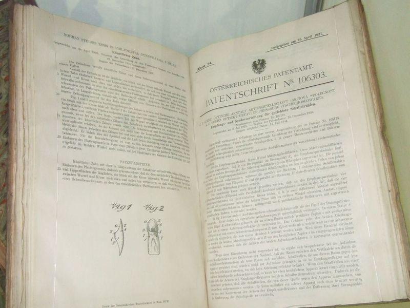 Ukázky starých patentových dokumentů