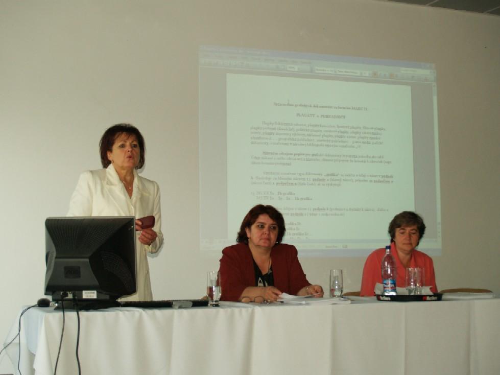 PhDr. Anna Kucianová, Ing. Slavomíra Soláriková a Mgr. Marta Jahnátková