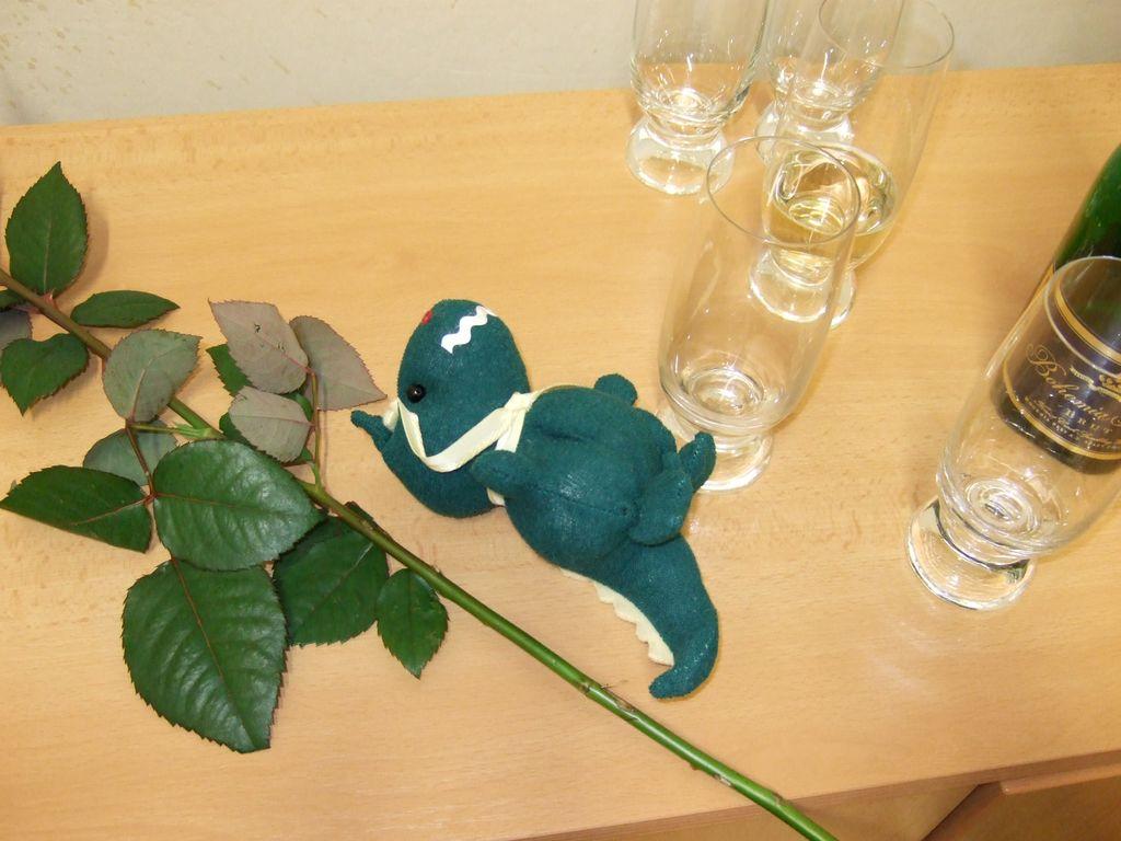 Dráček Librosaurus byl ke konci již trochu společensky unavený :-)