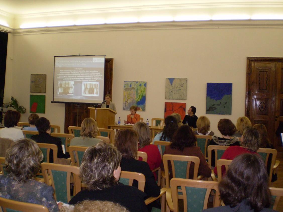 O projektoch Slovenskej národnej knižnice informovali Katarína Krištofová a Ján Kováčik