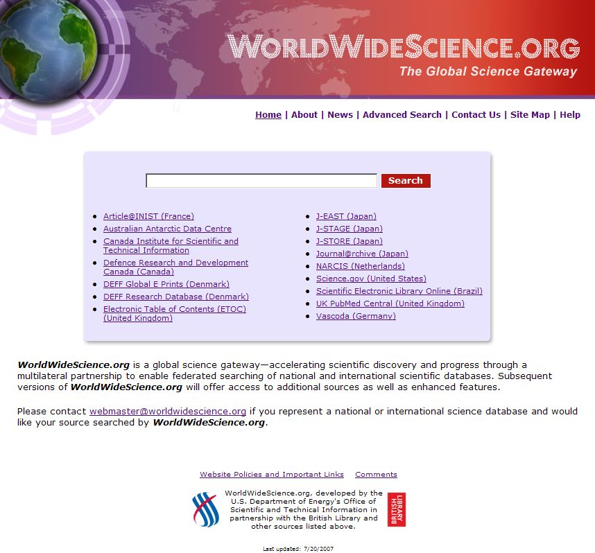 Úvodní stránka portálu s jednoduchým vyhledáváním