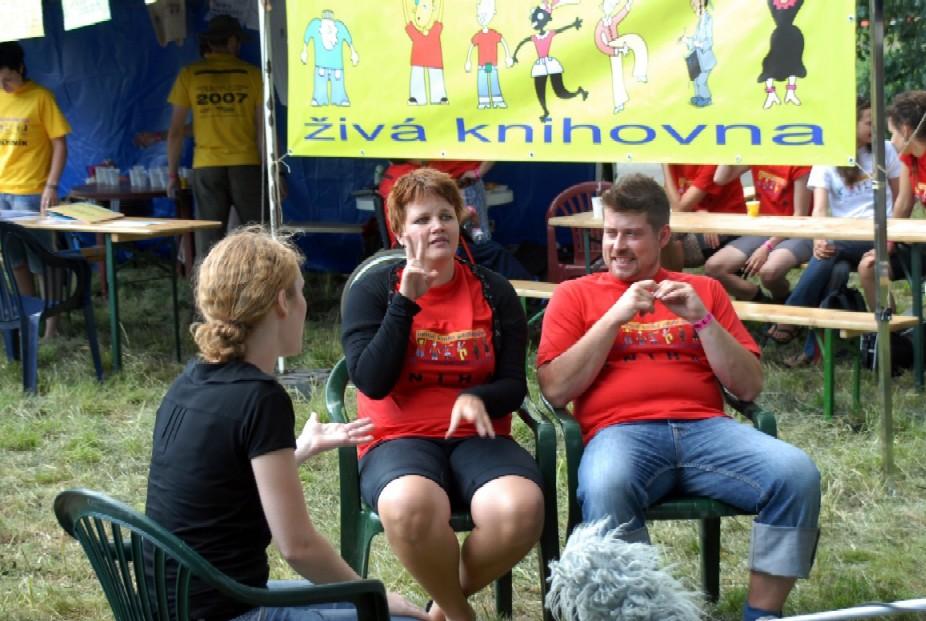 Interview ve znakovém jazyce pro dokumentární film