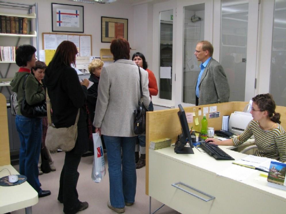 Uvítání v referenčním centru