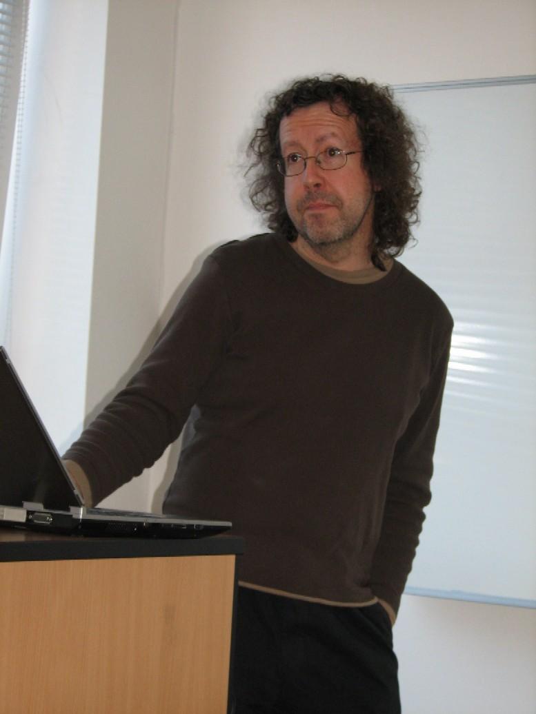 David Bawden při jinonické přednášce
