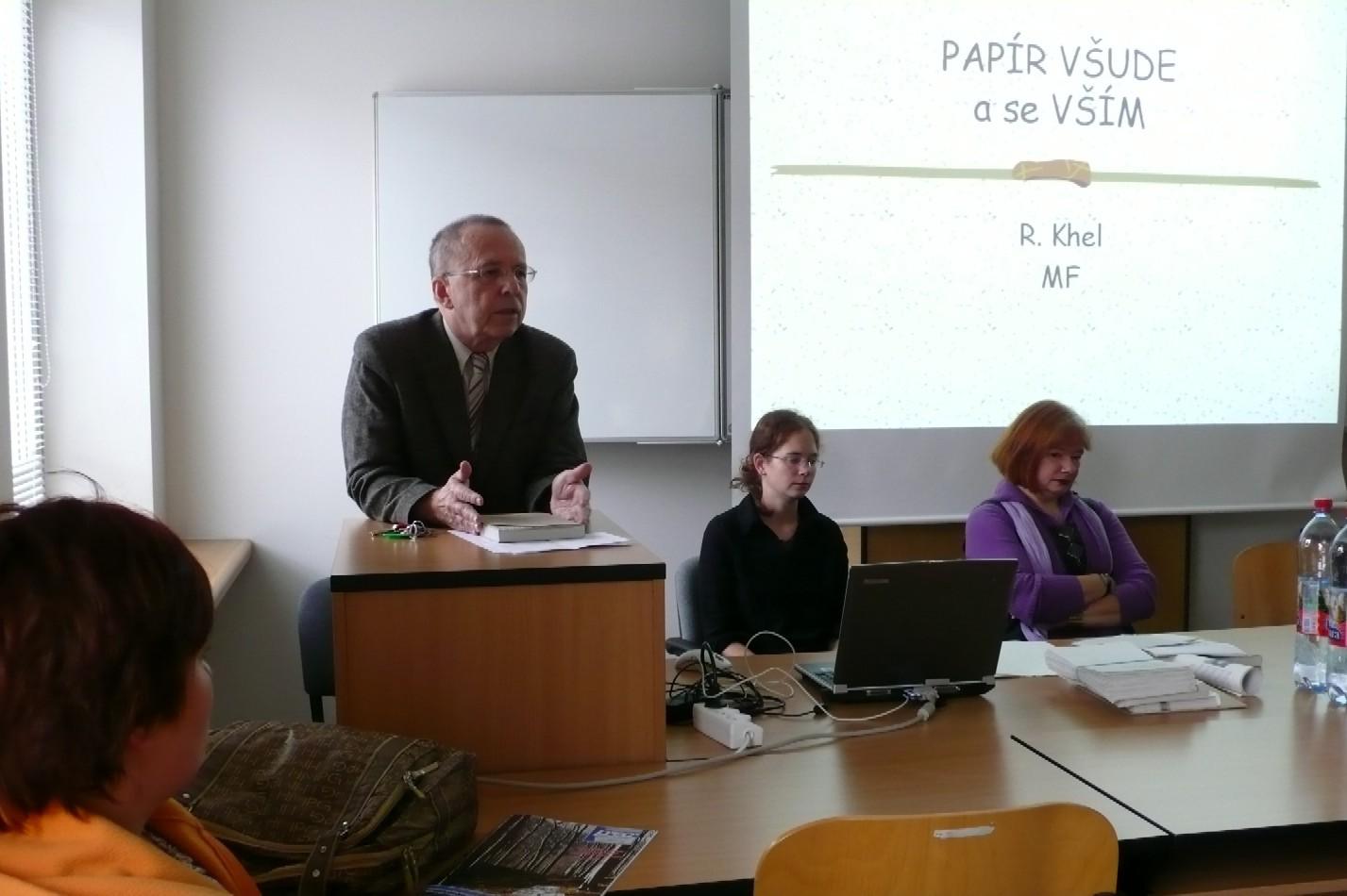 Zleva: Richard Khel, Blanka Vorlíčková a Kateřina Řezáčová
