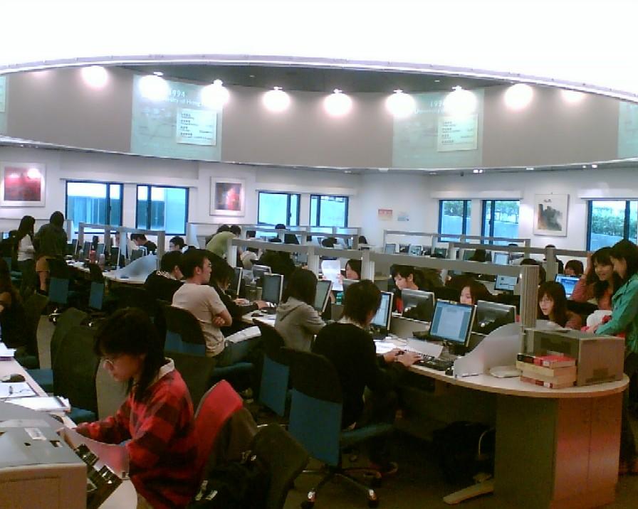 Obr. 7: Information Space v knihovně City University