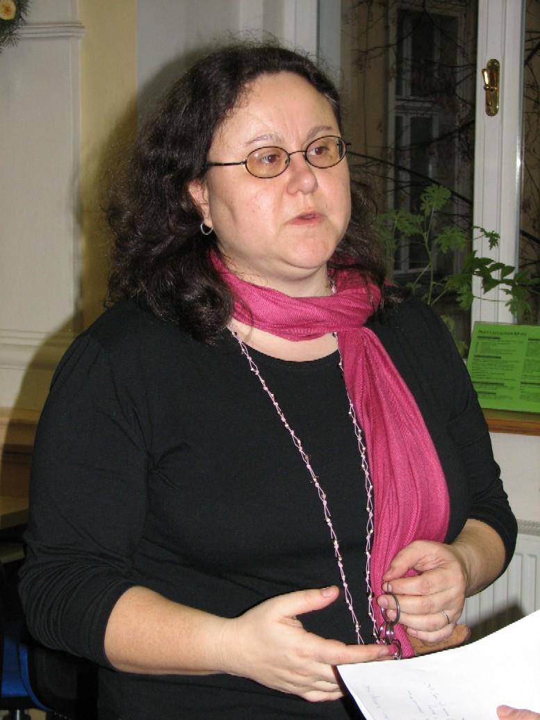 E. Cerniňáková při výkladu