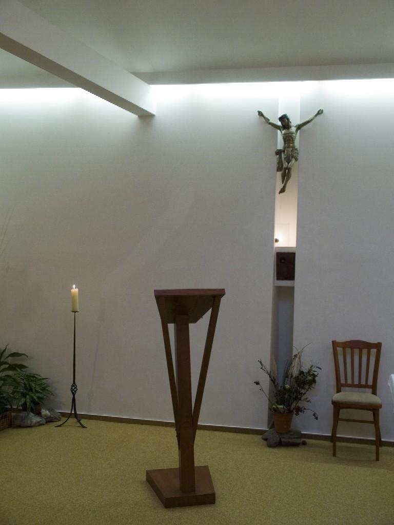 Interiér kaple Jaboku