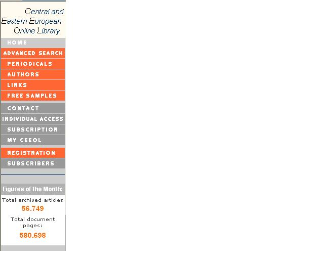 Obr. 2: Navigačné menu a mesačná štatistika (voľný prístup)