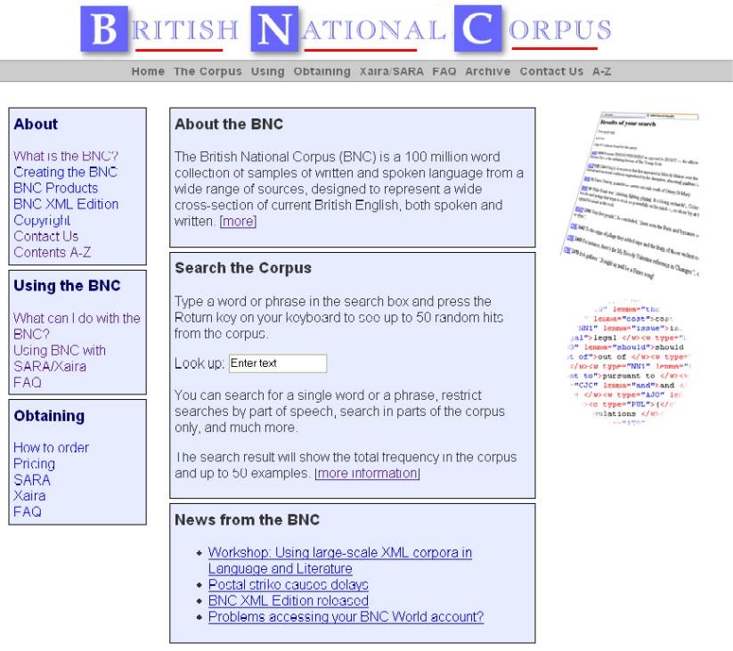 Náhled hlavní stránky BNC