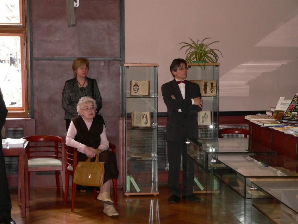 Čestným hostem výstavy AgroPublikace byla dr. Eva Pavlátová, dcera zakladatele Domu zemědělské osvěty Ing. dr. Edvarda Reicha