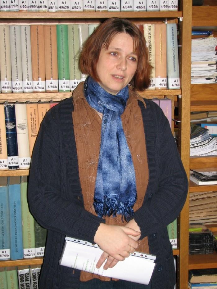 Eva Novotná, vedoucí knihovny