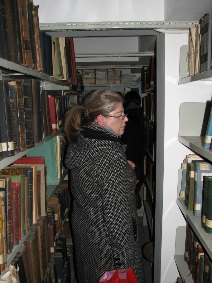 Jeden z knihovních skladů