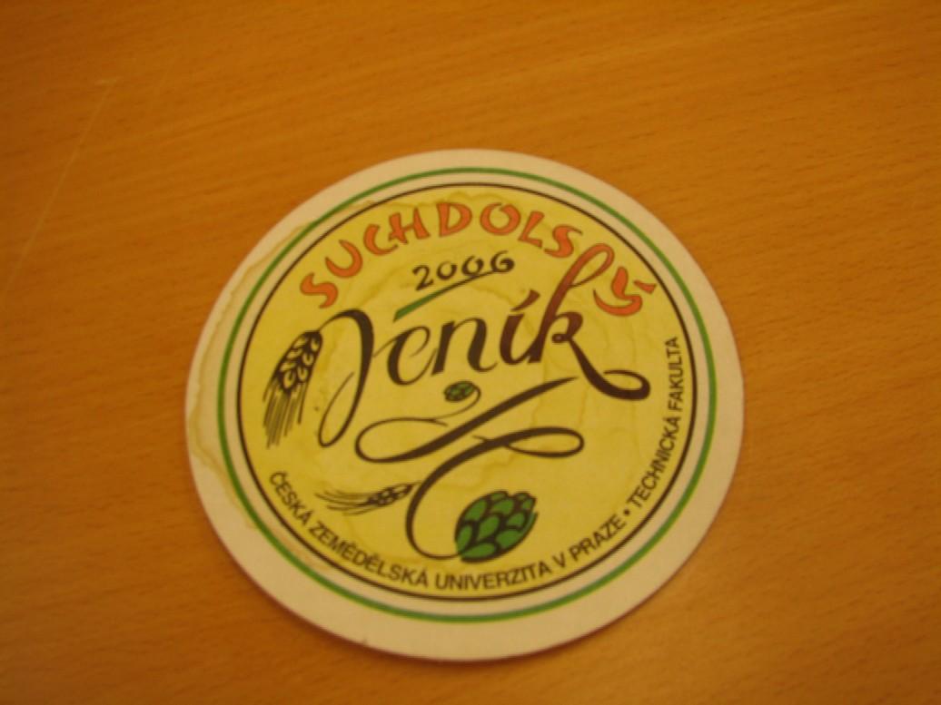 Pivní tácek aneb grafická reprezentace piva Suchdolský Jeník