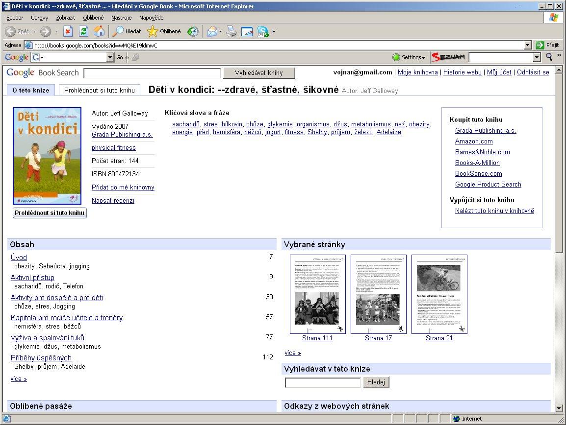 Obr. 2: Zobrazení stejného titulu v prostředí Google Books po kliknutí na odkaz
