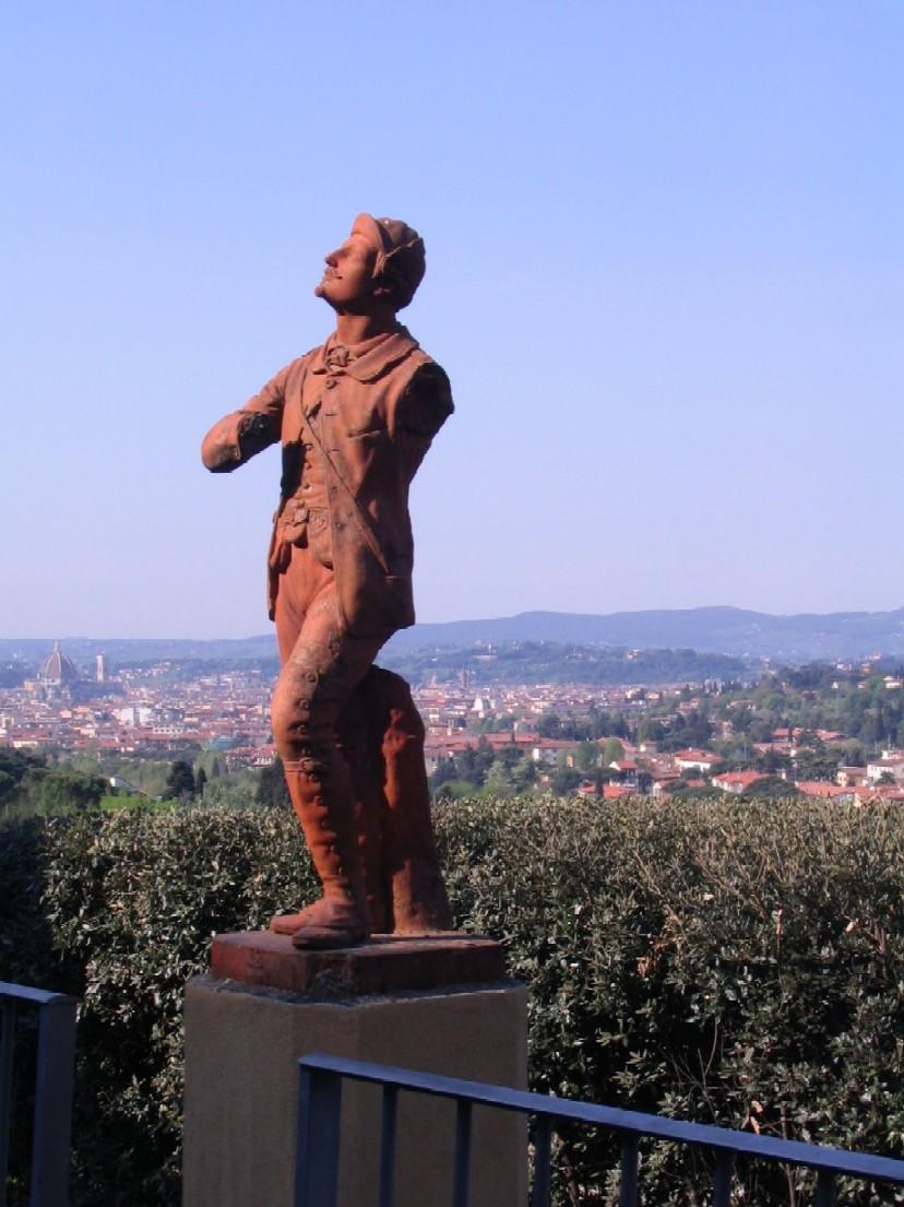 Výhled na Florencii z terasy EUI