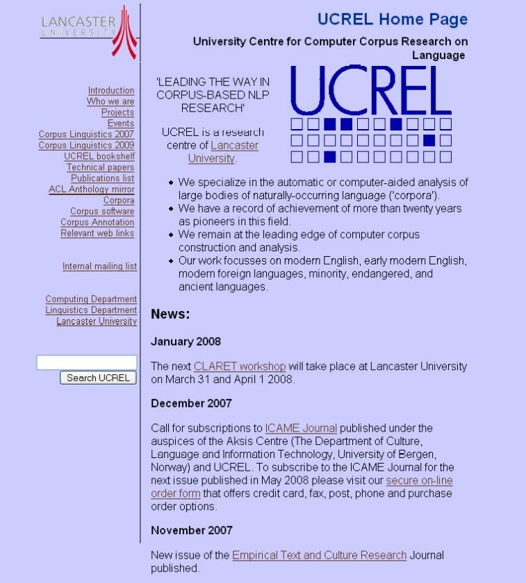 Obr. 5: Webová prezentace projektu