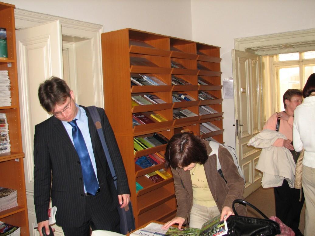 V prostorách dokumentačního odboru