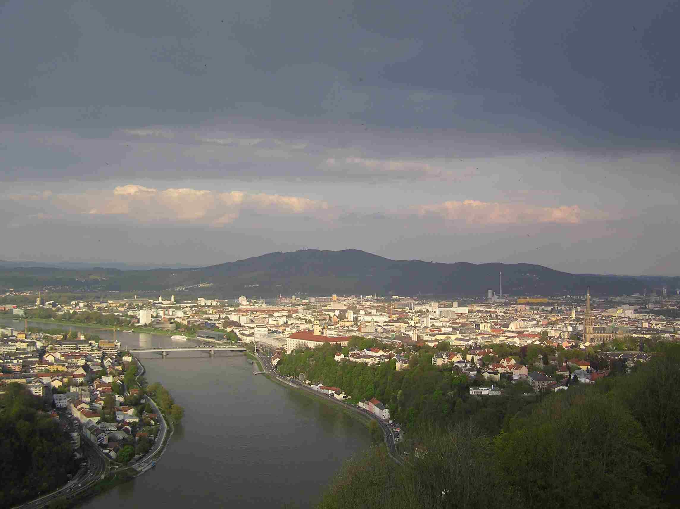 Obr. 1: Linec z vyhlídkové věže Františka Josefa I.