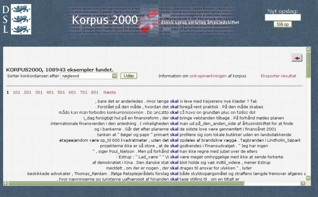 Obr. 4: Náhled konkordančních řádků slova skal (na zdraví) v Korpusu 2000