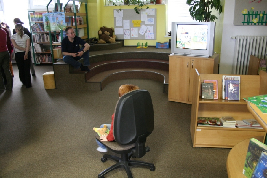 Přátelská atmosféra dětského oddělení; autor fotografie: A. Dvořák