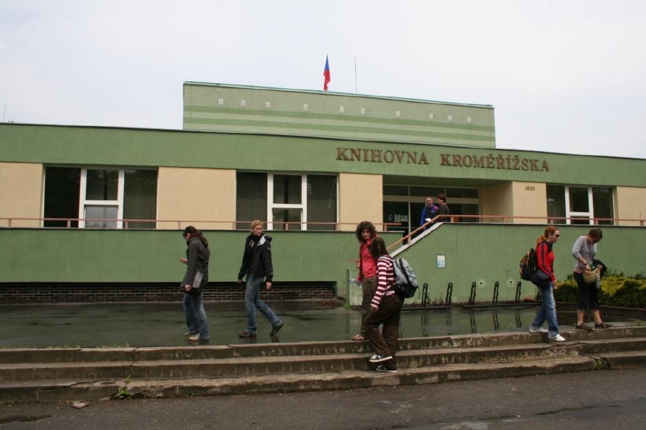 Budova knihovny Kroměřížska – průčelí; autor fotografie: Adam Dvořák