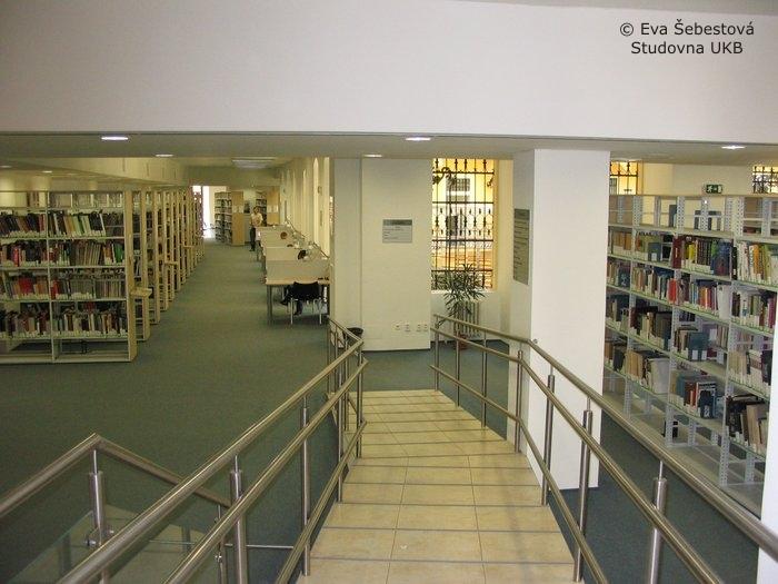 Studovna univerzitní knihovny; autor fotografie: Eva Šebestová
