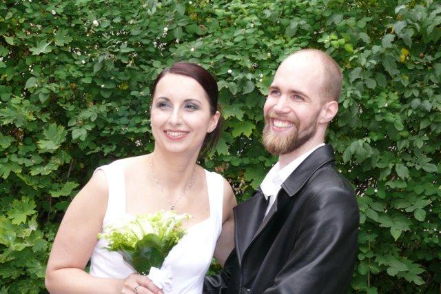 Novomanželé krátce po obřadu