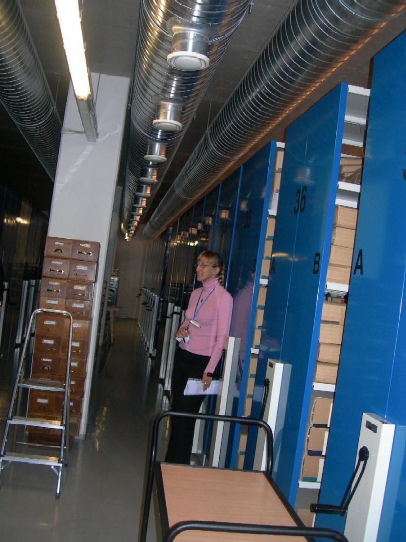 Moderní depozitáře Estonského historického archivu v Tallinu
