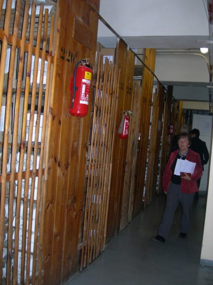 Pohled do původních depozitářů Státního historického archivu v Rize