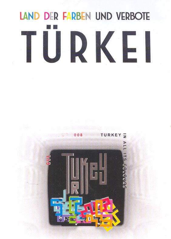 """Obr. 2: V kurdské verzi se Turecko změnilo v zemi """"barev a zákazů"""", a turecké logo v kurdském provedení vypadalo jako okno vězeňské cely"""