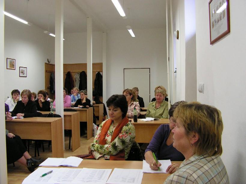 Účastníci podujatia v Prešove, v popredí Bc. A. Vaľková, námestníčka ŠVK Prešov