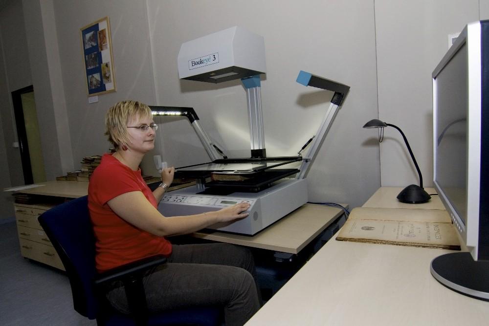 Práce se skenerem BookEye